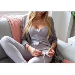Koszulka na ramiączka gray/white