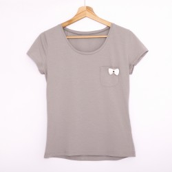Tshirt gray/white