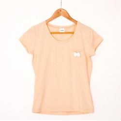 T-shirt peach/white