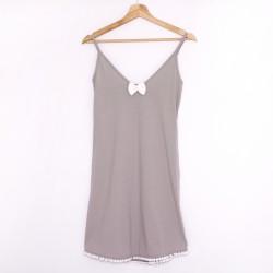 Koszulka nocna na ramiączkach gray/white