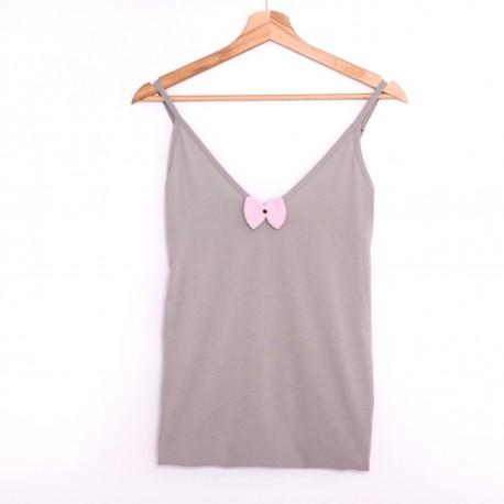 Koszulka na ramiączka gray/pink