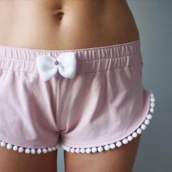 Szorty low waist pink/white