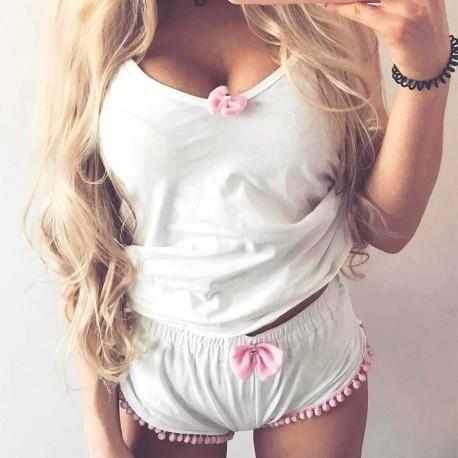 Koszulka na ramiączka white/pink