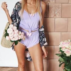 Koszulka na ramiączkach lila/pink